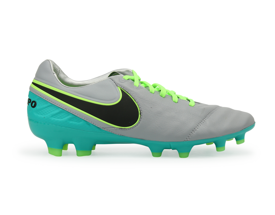 Nike Men's Tiempo Legacy II FG Wolf Grey/Black/Clear Jade