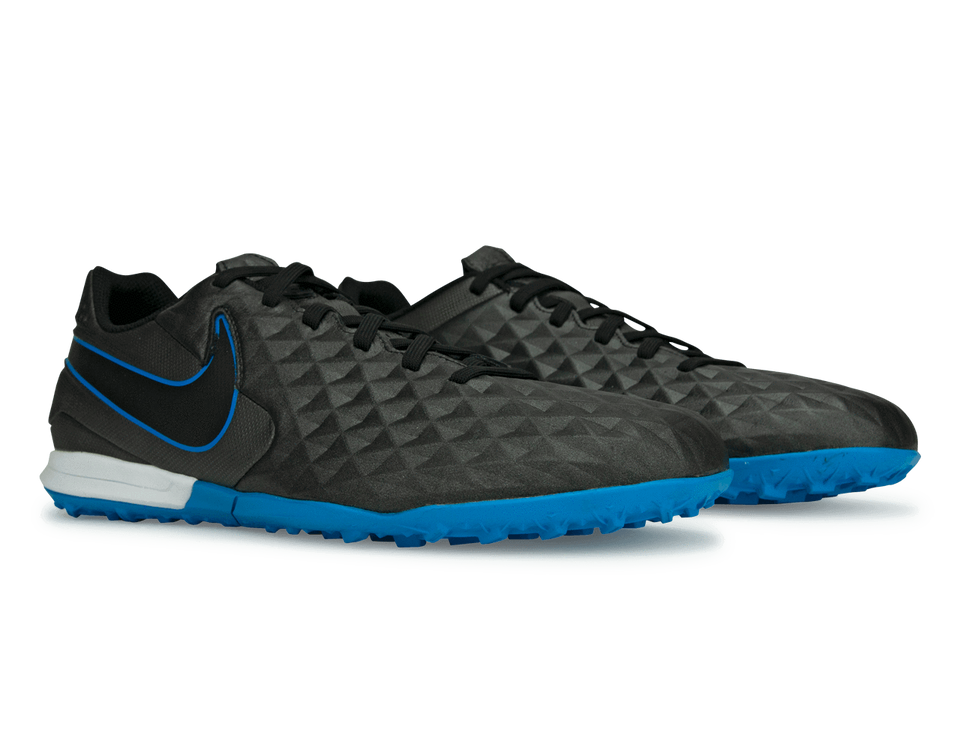 Nike Men's Tiempo Legend 8 Academy Turf Soccer Shoes Black/Blue Hero