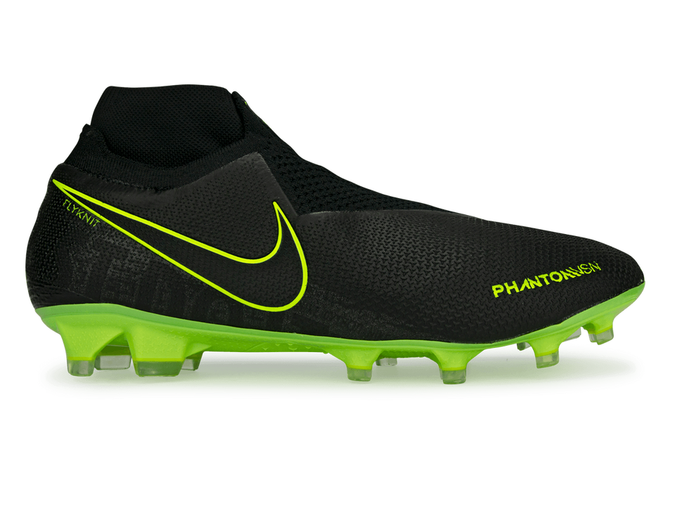 Nike Men's Phantom VSN Elite DF FG/MG Black/Volt