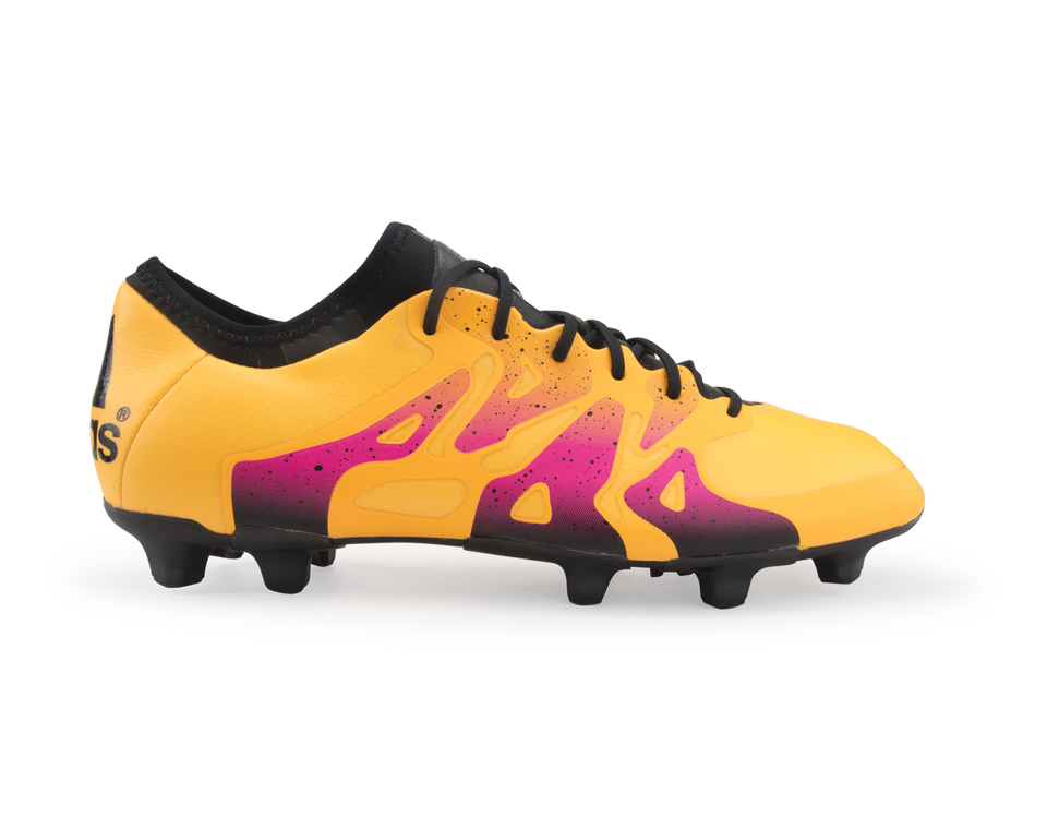 adidas Men's X 15.1 FG/AG Solar Gold/Black/Shock Pink