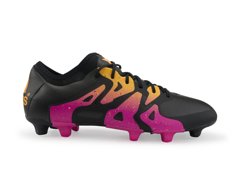 adidas Men's X 15.1 FG/AG Black/Shock Pink/Solar Gold