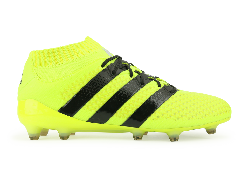adidas Men's ACE 16.1 Primeknit FG/AG Solar Yellow/Core Black/Silver Metallic