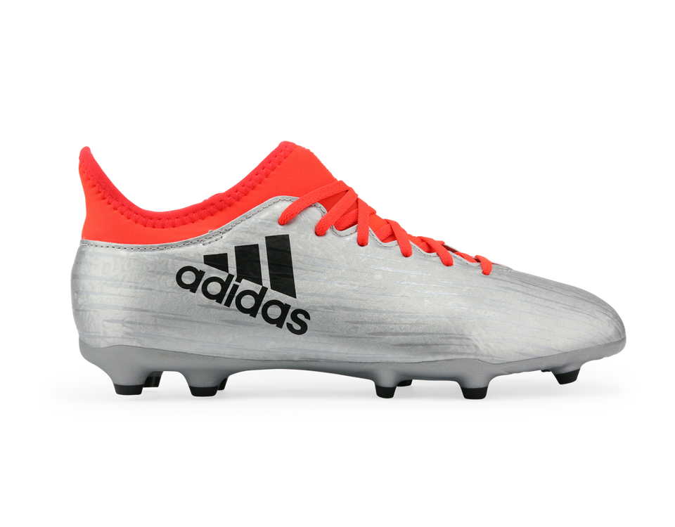adidas Kids X 16.3 FG Silver Metallic/Core Black/Solar Red