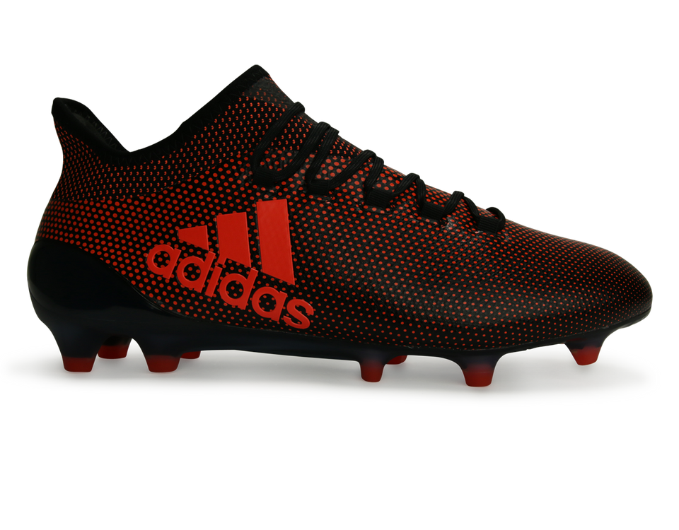 adidas Men's X 17.1 FG Core Black/Solar Red/Solar Orange