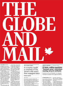 Globe & Mail Cover