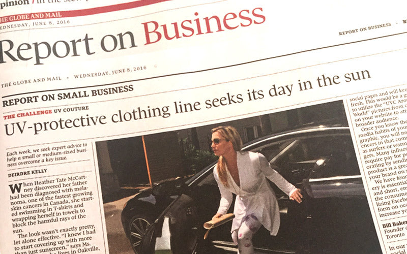UV Couture in Globe and Mail