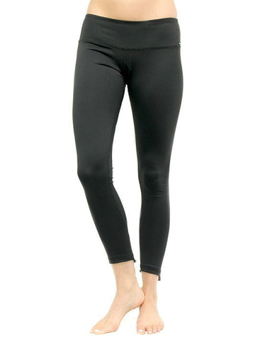 UV Couture - Black Francesca Legging front view - provides UPF 50+ sun protection