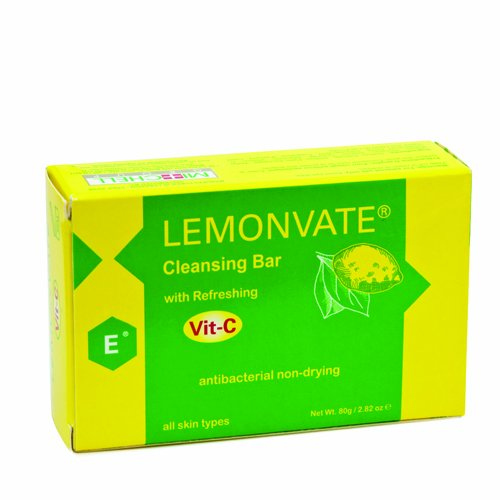 Lemonvate Anti-Bacterial Soap Vitamin C 80g Mitchell Brands - Mitchell Brands - Skin Lightening, Skin Brightening, Fade Dark Spots, Shea Butter, Hair Growth Products
