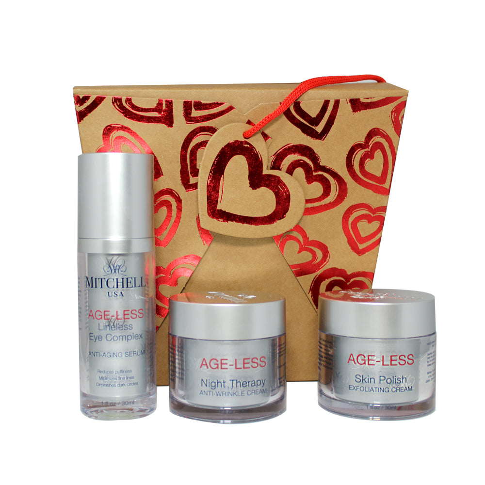 Ageless Valentine Box Set Mitchell Group USA, LLC - Mitchell Brands - Skin Lightening, Skin Brightening, Fade Dark Spots, Shea Butter, Hair Growth Products