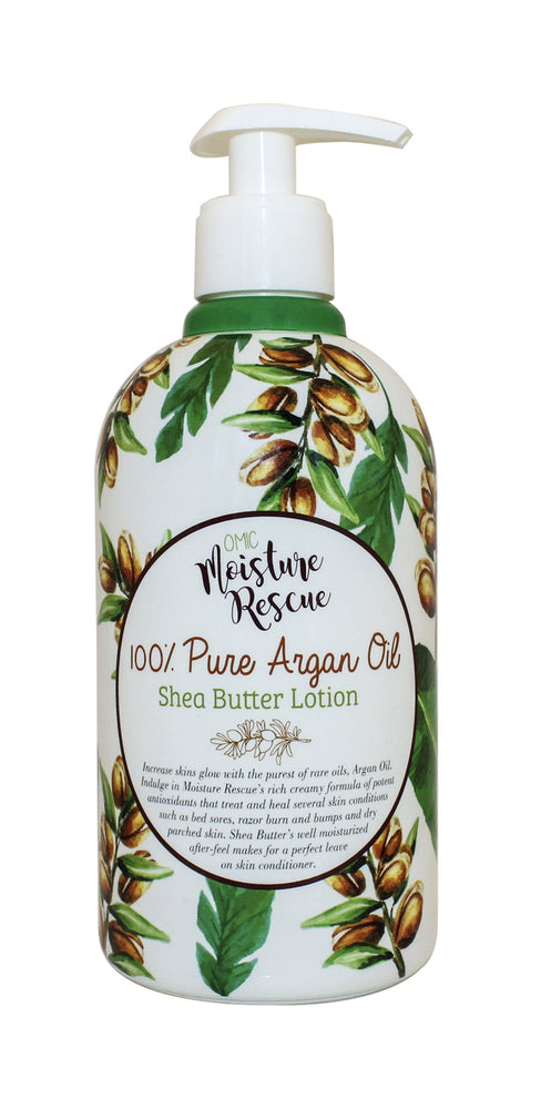 Moisture Rescue Shea Butter Lotion - Argan Oil Omic Moisture Rescue - Mitchell Brands - Skin Lightening, Skin Brightening, Fade Dark Spots, Shea Butter, Hair Growth Products