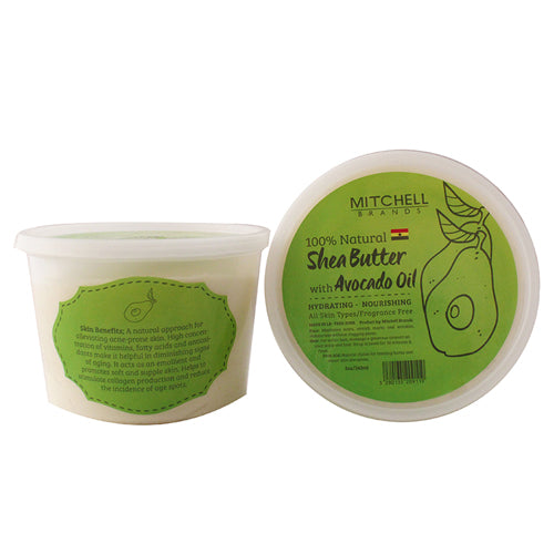 100% Natural Shea Butter Jar Enhanced with Avocado Oil Natural Shea Butter - Mitchell Brands - Skin Lightening, Skin Brightening, Fade Dark Spots, Shea Butter, Hair Growth Products