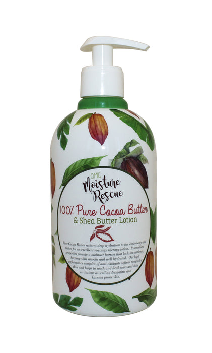 Moisture Rescue Shea Butter Lotion - Cocoa Butter Omic Moisture Rescue - Mitchell Brands - Skin Lightening, Skin Brightening, Fade Dark Spots, Shea Butter, Hair Growth Products