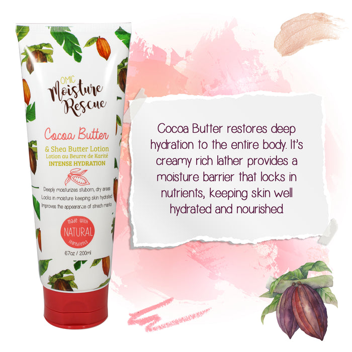 Moisture Rescue Shea Butter Lotion Tube with Cocoa Butter Mitchell Brands - Mitchell Brands - Skin Lightening, Skin Brightening, Fade Dark Spots, Shea Butter, Hair Growth Products