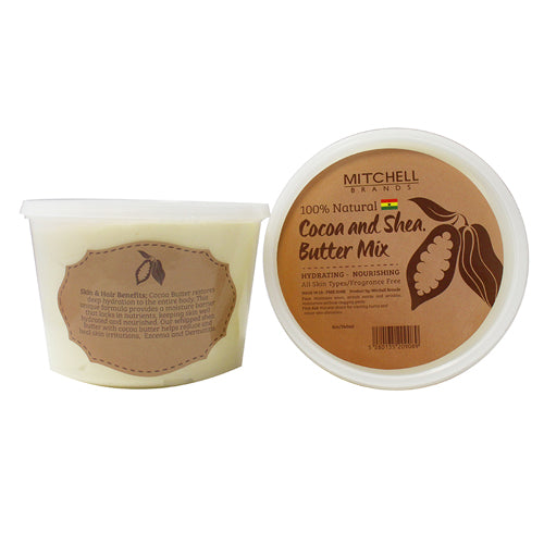 100% Natural Shea Butter Jar Enhanced with Cocoa - Mitchell Brands