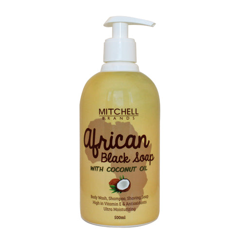 African Liquid Black Soap with Coconut Oil - Mitchell Brands