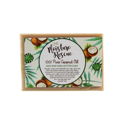 Moisture Rescue Shea Butter Soap with Coconut Oil Omic Moisture Rescue - Mitchell Brands - Skin Lightening, Skin Brightening, Fade Dark Spots, Shea Butter, Hair Growth Products