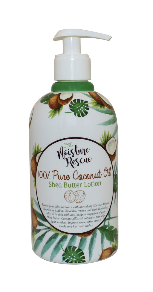 Moisture Rescue Shea Butter Lotion - Coconut Oil Omic Moisture Rescue - Mitchell Brands - Skin Lightening, Skin Brightening, Fade Dark Spots, Shea Butter, Hair Growth Products