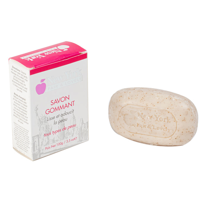 New York Fair & Lovely Exfoliating Soap 100g New York Fair & Lovely - Mitchell Brands - Skin Lightening, Skin Brightening, Fade Dark Spots, Shea Butter, Hair Growth Products