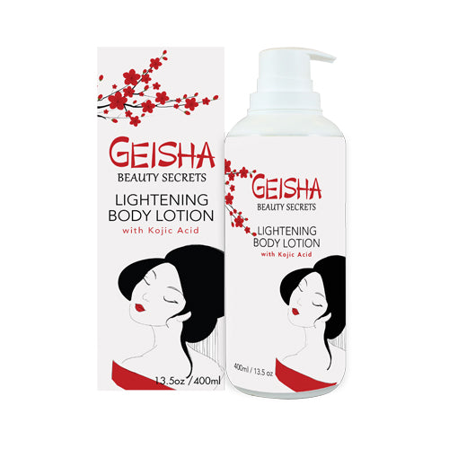 Geisha Beauty Secrets Brighteing Body Lotion with Kojic Acid 400ml Mitchell Brands - Mitchell Brands - Skin Lightening, Skin Brightening, Fade Dark Spots, Shea Butter, Hair Growth Products
