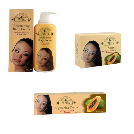Papaya Essential Kit Mitchell Brands - Mitchell Brands - Skin Lightening, Skin Brightening, Fade Dark Spots, Shea Butter, Hair Growth Products