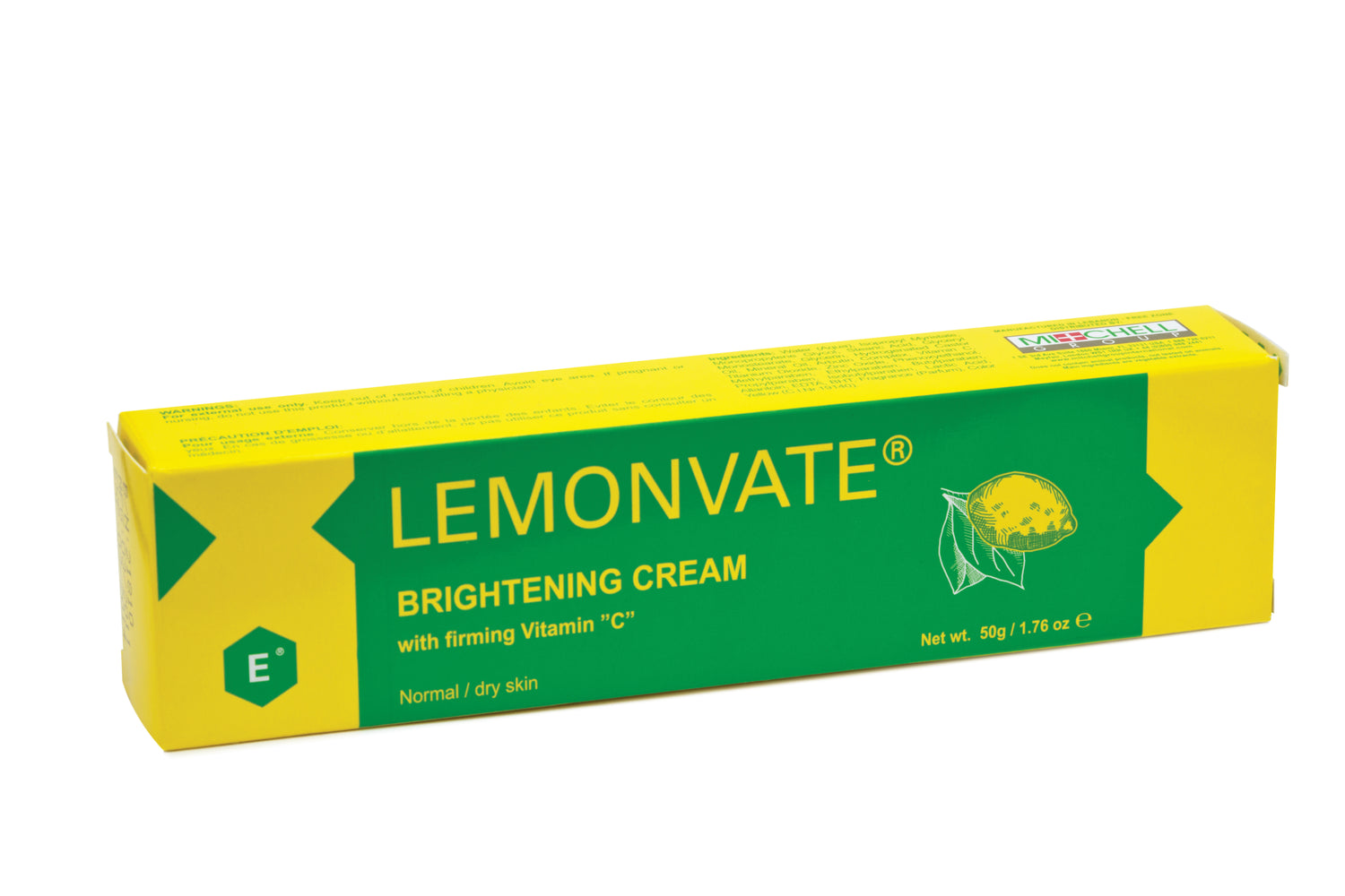 Lemonvate Brightening Cream 50g Mitchell Brands - Mitchell Brands - Skin Lightening, Skin Brightening, Fade Dark Spots, Shea Butter, Hair Growth Products