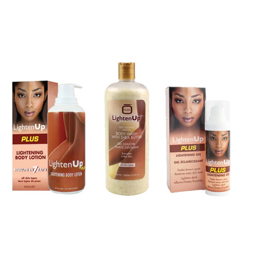 Lighten Up Full Body Kit LightenUp - Mitchell Brands - Skin Lightening, Skin Brightening, Fade Dark Spots, Shea Butter, Hair Growth Products