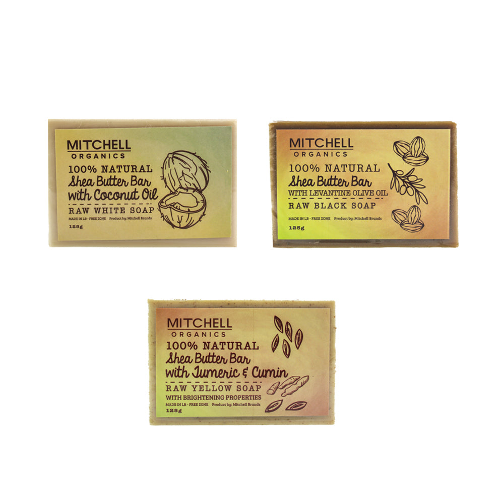 Mitchell Organic Soap Pack Mitchell Brands - Mitchell Brands - Skin Lightening, Skin Brightening, Fade Dark Spots, Shea Butter, Hair Growth Products