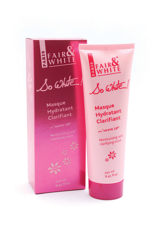Fair & White So White Moisturizing and Clarifying Mask 250ml Fair & White So White - Mitchell Brands - Skin Lightening, Skin Brightening, Fade Dark Spots, Shea Butter, Hair Growth Products