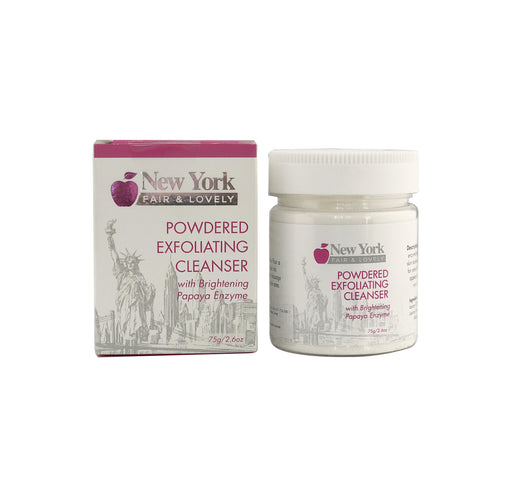 New York Fair & Lovely Powdered Exfoliating Cleanser 75g New York Fair & Lovely - Mitchell Brands - Skin Lightening, Skin Brightening, Fade Dark Spots, Shea Butter, Hair Growth Products