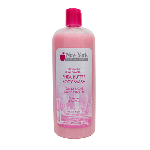 New York Fair & Lovely Exfoliating Pomegranate Shea Butter Body Wash 1000ml New York Fair & Lovely - Mitchell Brands - Skin Lightening, Skin Brightening, Fade Dark Spots, Shea Butter, Hair Growth Products