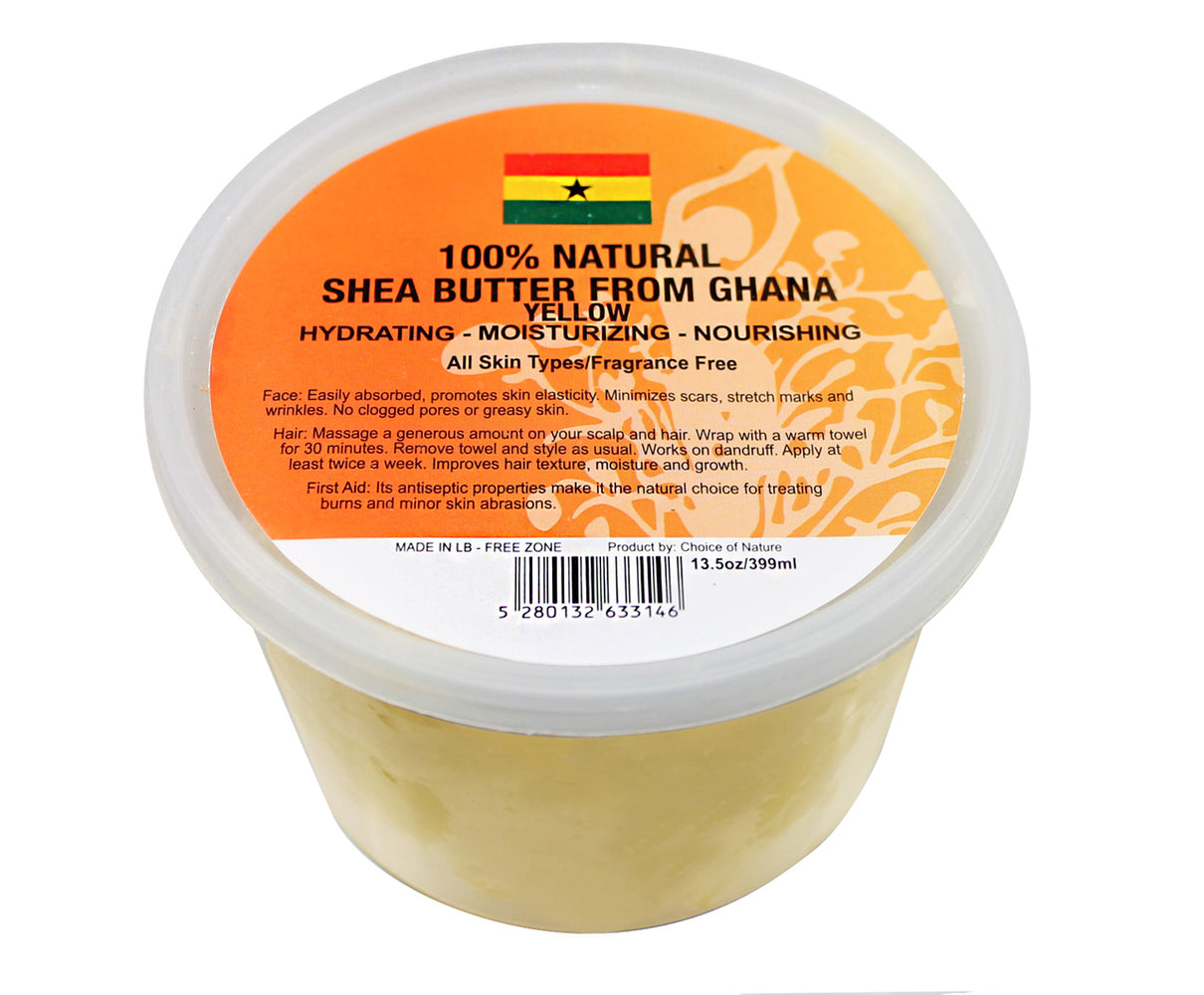 Natural Shea Butter Chunk - Yellow
