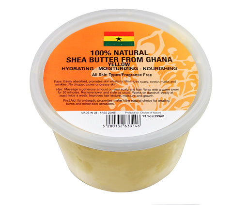 Natural Shea Butter Chunk - Yellow Choice of Nature - Mitchell Brands - Skin Lightening, Skin Brightening, Fade Dark Spots, Shea Butter, Hair Growth Products