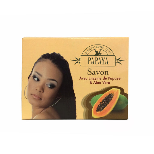 Organic Extract of Papaya Soap with Papaya Enzyme & Aloe Vera 100g FleurDeLis - Mitchell Brands - Skin Lightening, Skin Brightening, Fade Dark Spots, Shea Butter, Hair Growth Products