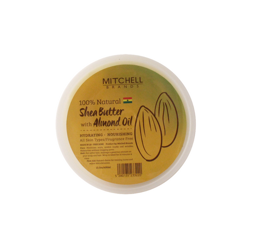 100% Natural Shea Butter Jar Enhanced With Almond Oil Natural Shea Butter - Mitchell Brands - Skin Lightening, Skin Brightening, Fade Dark Spots, Shea Butter, Hair Growth Products