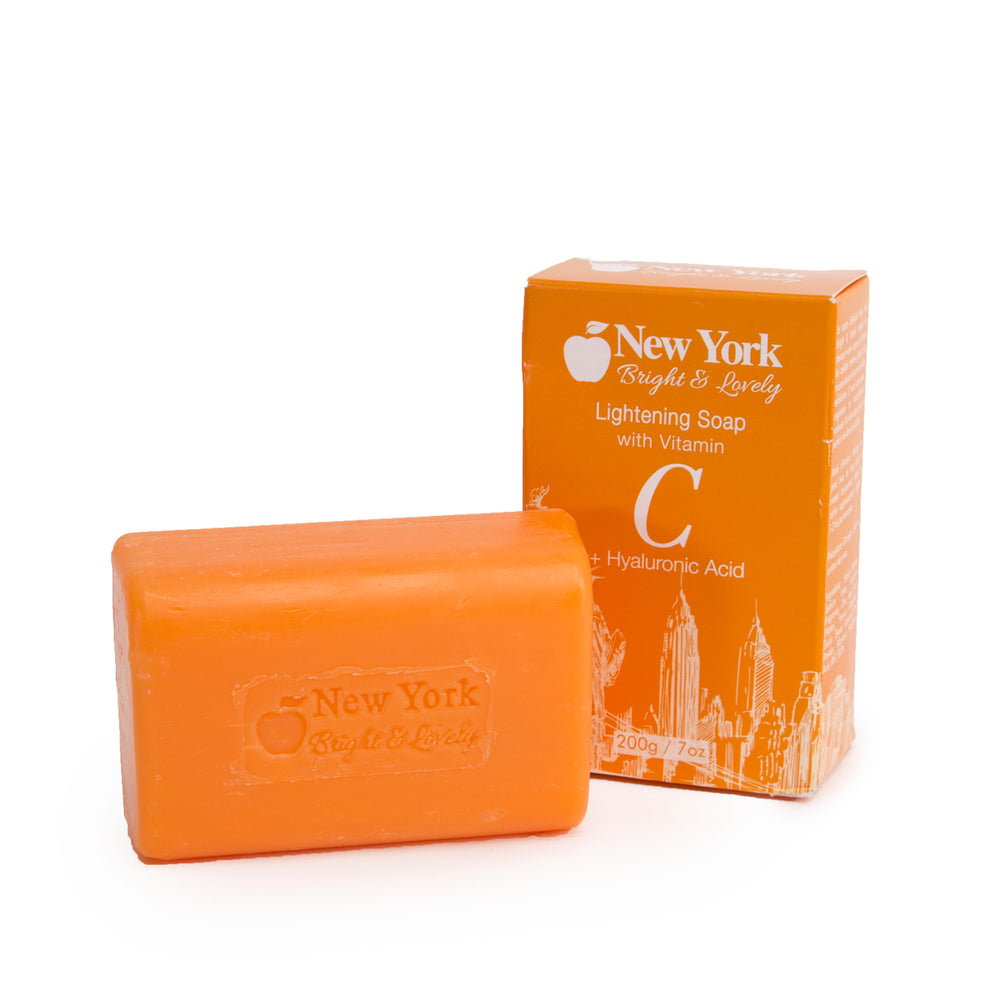 New York Bright & Lovely Lightening Soap w Vitamin C + Hyaluronic Acid 200g Mitchell Brands - Mitchell Brands - Skin Lightening, Skin Brightening, Fade Dark Spots, Shea Butter, Hair Growth Products