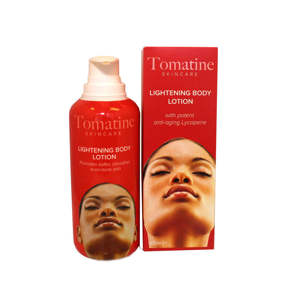Tomatine Lightening Body Lotion 400ml Tomatine - Mitchell Brands - Skin Lightening, Skin Brightening, Fade Dark Spots, Shea Butter, Hair Growth Products