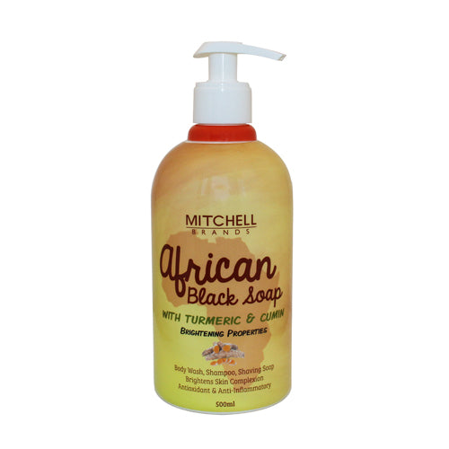 African Liquid Black Soap with Tumeric & Cumin - Mitchell Brands
