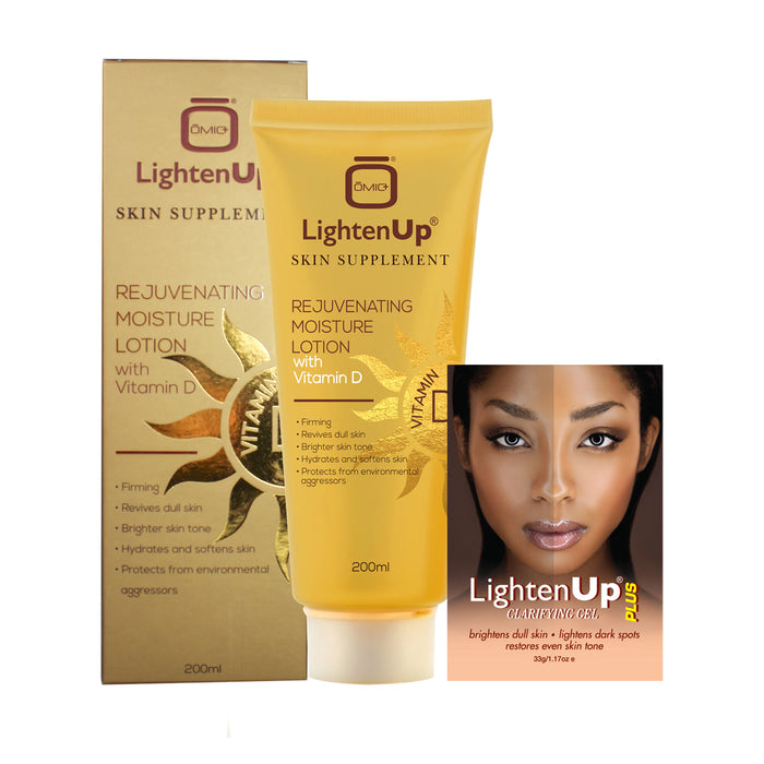 LightenUp Vitamin D Rejuvenating Lotion with Free Clarifying Gel Sachet Mitchell Brands - Mitchell Brands - Skin Lightening, Skin Brightening, Fade Dark Spots, Shea Butter, Hair Growth Products
