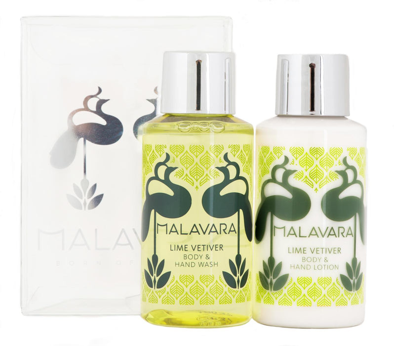 Malavara Luxurious Body and Hand Wash and Lotion Gift Set Mini 50MLx2 Mitchell Group USA, LLC - Mitchell Brands - Skin Lightening, Skin Brightening, Fade Dark Spots, Shea Butter, Hair Growth Products