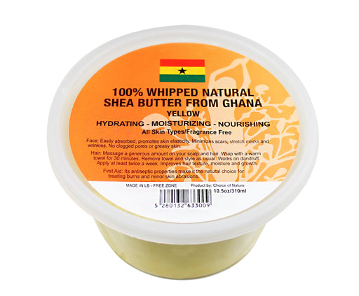 Natural Shea Butter Whipped - Yellow Choice of Nature - Mitchell Brands - Skin Lightening, Skin Brightening, Fade Dark Spots, Shea Butter, Hair Growth Products