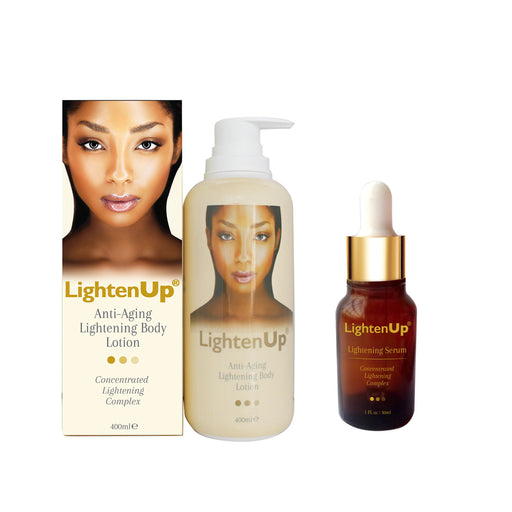 LightenUp Anti-Aging Kit Mitchell Brands - Mitchell Brands - Skin Lightening, Skin Brightening, Fade Dark Spots, Shea Butter, Hair Growth Products