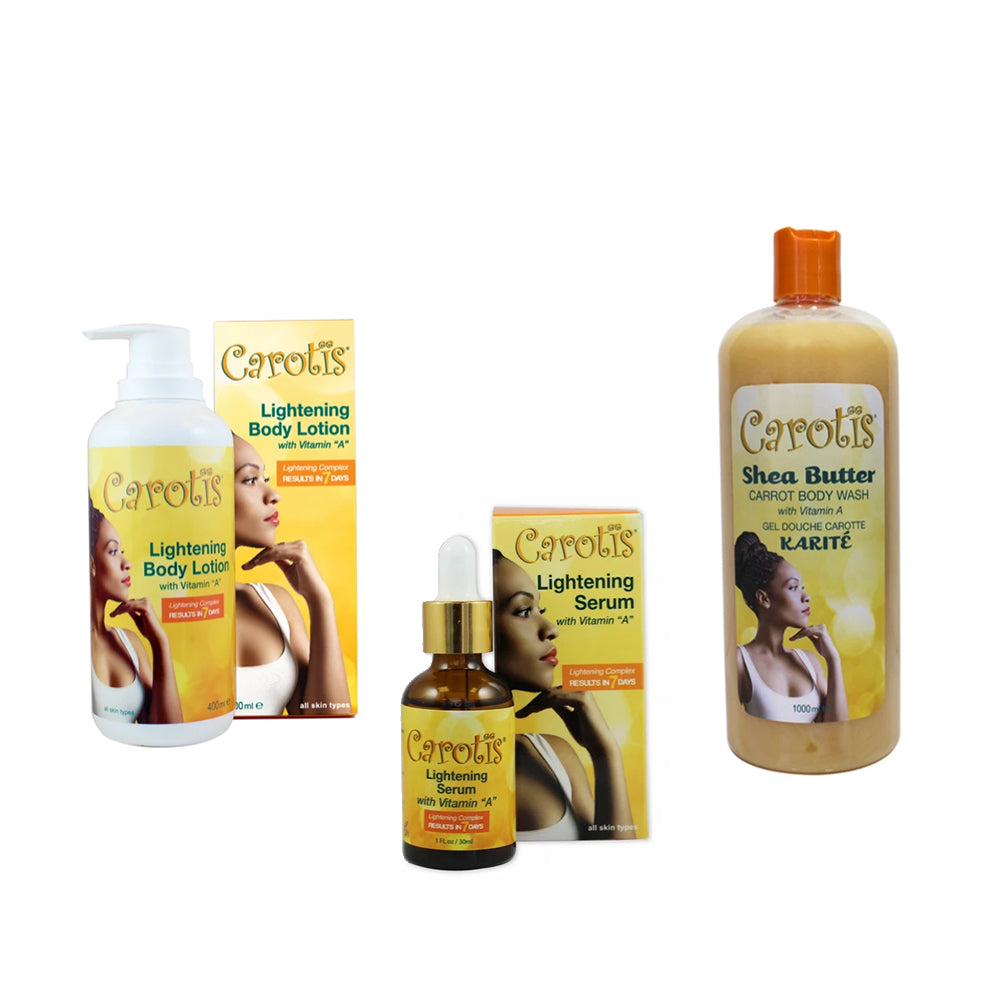 Carotis '7 Day Lighter' Kit Mitchell Brands - Mitchell Brands - Skin Lightening, Skin Brightening, Fade Dark Spots, Shea Butter, Hair Growth Products