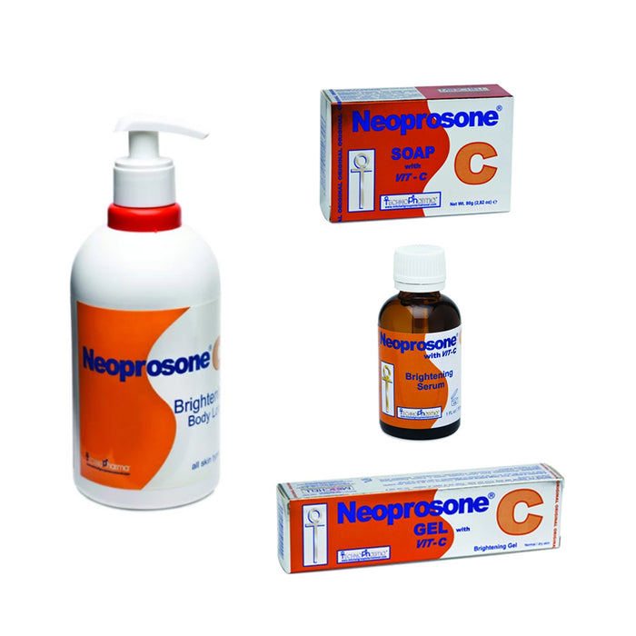 "Neoprosone Vitamin C Kit Neoprosone Vitamin ""C"" - Mitchell Brands - Skin Lightening, Skin Brightening, Fade Dark Spots, Shea Butter, Hair Growth Products"