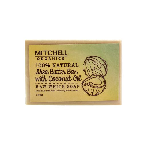 Mitchell Organics 100% Natural Shea Butter Bar With Coconut Oil African Black Soap - Mitchell Brands