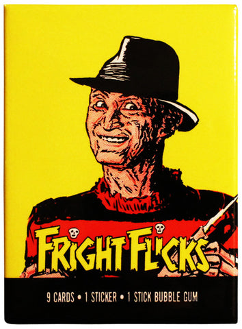 Fright Flicks Freddy Magnet