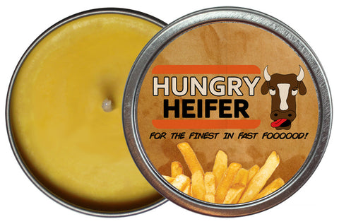 Hungry Heifer Candle Tin