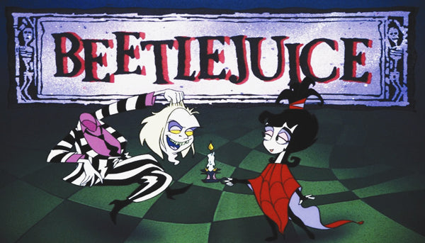 Beetlejuice Cartoon Label