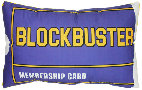Blockbuster Membership Card Pillow