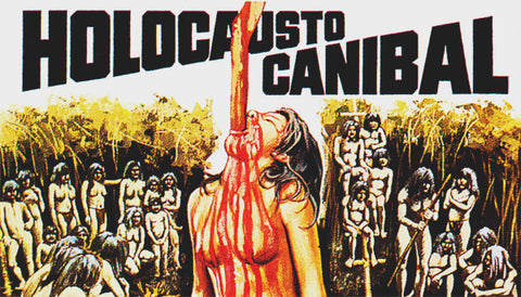 Cannibal Holocaust VHS Label