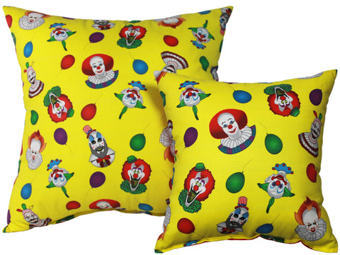 Clown Collage Pillow